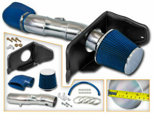 Blue Cold Air Induction Intake Kit Dry Filter For Ford 05 09 Mustang Gt 4 6l V8