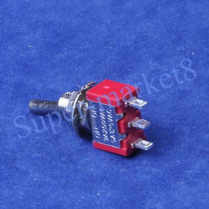 50pc Red Mini Toggle Switch Spdt On on Guitar Amp 3pin