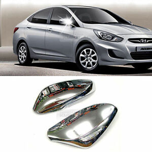 Chrome Side Mirror Cover Led Molding For Hyundai 2011 2015 Solaris Accent