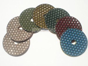4 Dry Polishing Pads Honey Style Perfect granite concrete marble best