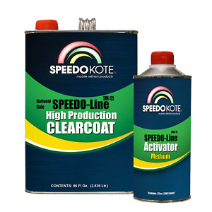 Automotive Very Fast Dry Clear Coat 3 1 Mix Clearcoat Gallon Kit W Medium Act