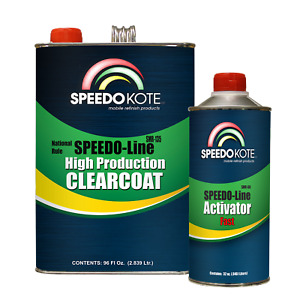 Automotive Very Fast Dry Clear Coat 3 1 Mix Clearcoat Gallon Kit W fast Act