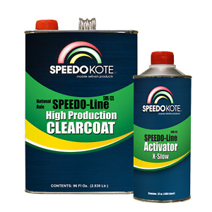 Automotive Fast Dry Clear Coat 3 1 Mix Clearcoat Gallon Kit W Extra Slow Act