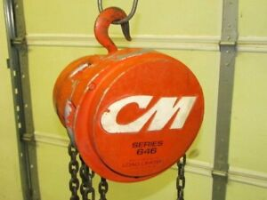 1 2 Ton Cm Cyclone 646 Series Chain Fall Hoist 7ft 6in Of Lift Load Limiter