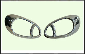 Chrome Head Light Lamp Cover Trim For Nissan March Hatchback