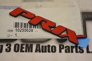1997 2002 Pontiac Grand Prix Front Door Or Trunk Red Emblem Nameplate New Oem