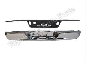 For 02 08 Dodge Ram 1500 2500 3500 Rear Bumper Chrome Pad Ch1191110 Ch1102371