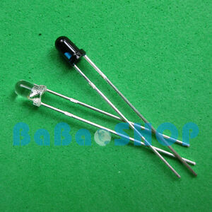 10pairs Launch Emitter Receiver 3mm 940nm Ir Infrared Diode Led Lamp New