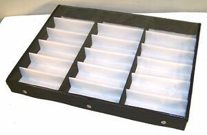 Portable Sunglass Clear Cover 18 Pair Display Tray Glasses Storage Protector New
