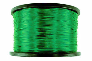 Temco Magnet Wire 18 Awg Gauge Enameled Copper 155c 5lb 995ft Coil Green