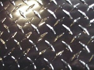 Aluminum Diamond Plate Powder Coated 063 X24 x48 Blk