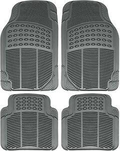 Car Floor Mats For Toyota Camry 4pc Set All Weather Rubber Semi Custom Fit Gray