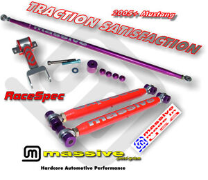 Mss Rear Kit Adj Lower Upper Control Arms Adjustable Panhard 05 Mustang