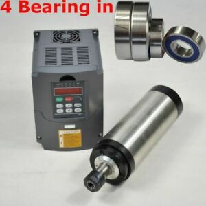 Four Bearing 2 2kw Water Cooled Spindle Motor Er20 Inverter Vfd Frequency Drive