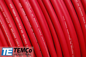 Welding Cable 2 0 Red 50 Ft Battery Leads Usa New Gauge Copper Awg