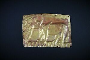 Beautiful Ancient Eurasian Gold Plaque Depicting A Bull
