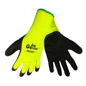 Global Glove 300int m Insulated Ice Gripster Rubber coated Gloves medium