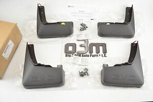 10 15 Gmc Terrain Front Rear Molded Mud Flaps 4pc Set With Gmc Logo New Oem