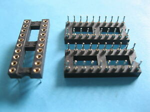240 Pcs Ic Socket Adapter Round 20 Pin Header ic Socket Pitch 2 54mm 7 62mm