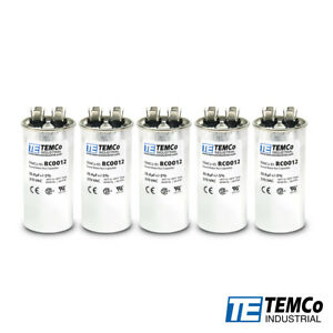 Temco 35 Mfd Uf Run Capacitor 370 Vac Volts 5 Lot Ac Motor Hvac 35 Uf