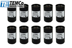 Temco 216 259 Mfd Uf Electric Motor Start Capacitor 220 250vac Volt Hvac 10 Pc
