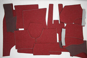 Porsche 912 German Square Weave Carpet Kit 1965 1968 Red