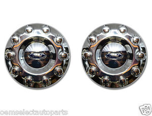 Oem New 2005 2012 Ford F 450 F 550 Front 19 5 Wheel 2wd Chrome Center Cap Pair