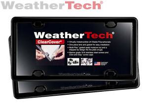 Weathertech Clearcover License Plate Cover 2 pack Black