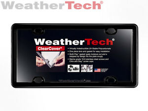 Weathertech Clearcover License Plate Cover 1 pack Black
