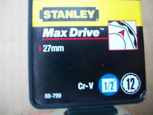 New Stanley 1 2 In Drive 27 Mm Max Drive 12 Point Socket
