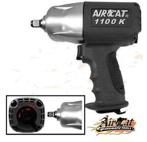 Aircat 1100 K 1 2 Twin Clutch Composite Air Impact Wrench Delivers 1100ft Lb