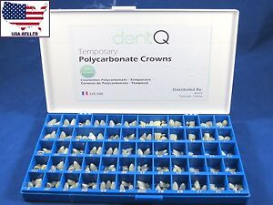 Dental Polycarbonate Temporary Crowns Kit 180 Pcs Dentq