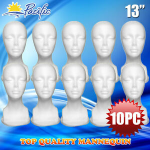 10pc 13 Styrofoam Foam Mannequin Manikin Head Display Wig Hat Glasses