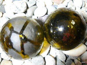 Brown Authentic Japanese Korean Glass Fishing Floats Alaska Beach Combed
