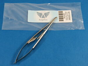 Dental Medical Castroviejo Needle Holder Curved With Lock 14 Cm Angelus