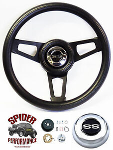 1968 Camaro Steering Wheel Ss 13 3 4 Black Spoke Steering Wheel