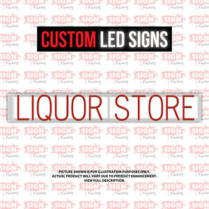Custom Led Sign Liquor Store Customizable