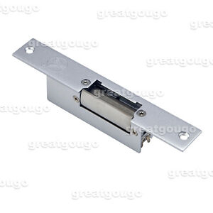 Door Steel Electric Strike Lock For Access Control Released When Power On no