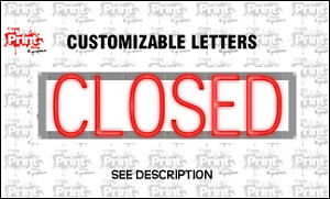 Custom Led Sign Closed Customizable