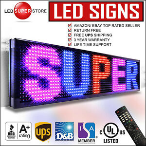 Led Super Store 3col rbp ir 22 x60 Programmable Scrolling Emc Display Msg Sign