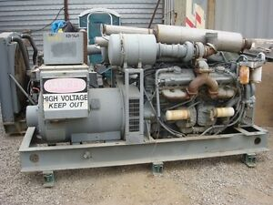 Rudox Generator Set 400kw 277 480 Volts Twin Detroit V12