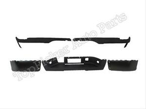 For 2007 2012 Silverado Sierra 1500 2500 Rear Bumper Cap Pad Set W O Hole 5 Pcs