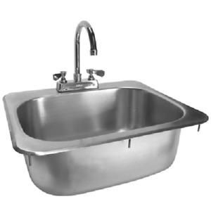 Drop in Hand Sink Stainless Steel 16 x15 W no Lead Faucet