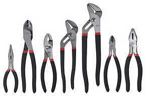 New Atd 7pc Mechanics Pliers Set With Cutters Crimpers Needle Nose Etc 827