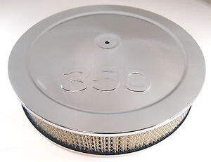 350 Cid Logo Air Cleaner Chevy Ford Chevrolet Chevy Carburator 4 Barrel