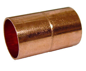 Copper Plumbing Fitting Coupling 1 1 2 Diameter Cxc Sweat Lot Of 10