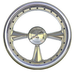 3 Spoke Custom Machined Billet Steering Wheel 1 9 Days To Make Rough Polish Only