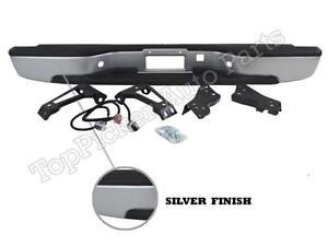 Rear Bumper Silver Full Assy For 1999 2006 Silverado Sierra 1500 2500 Fleetside