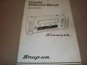 Reference Manual Chrysler Seventh Edition F Mt2500 Scanner