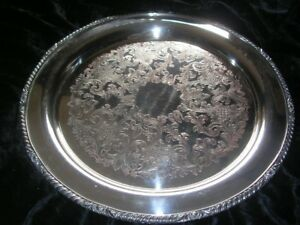Vintage Antique 14 Epc Silver Silverplate Tray Platter Stamp Of Horse